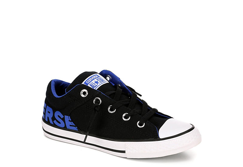eaed2239ce5c Black Converse Boys Chuck Taylor All Star High Street Wordmark ...