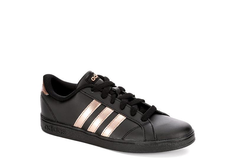 black adidas ragazze basale k atletico rack stanza scarpe