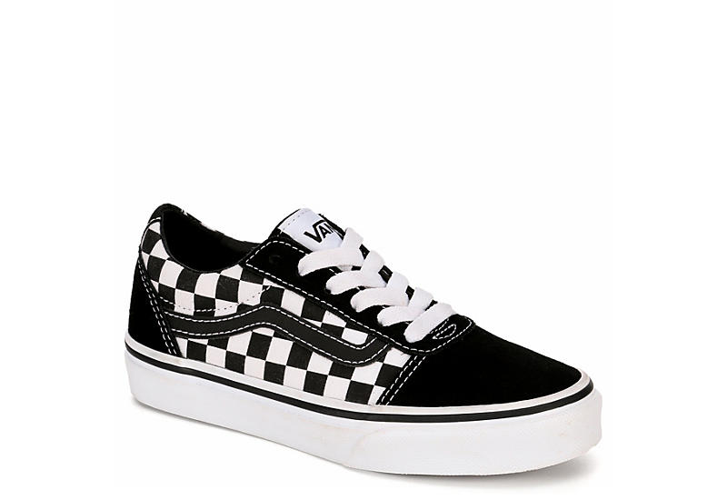 d5312c8a81f43a Black and White Checkered Vans Ward Boys  Sneakers