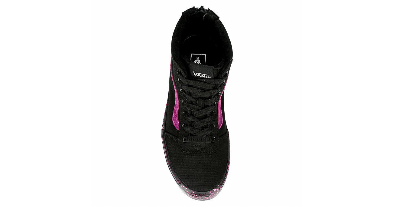 VANS Girls Ward Hi - BLACK