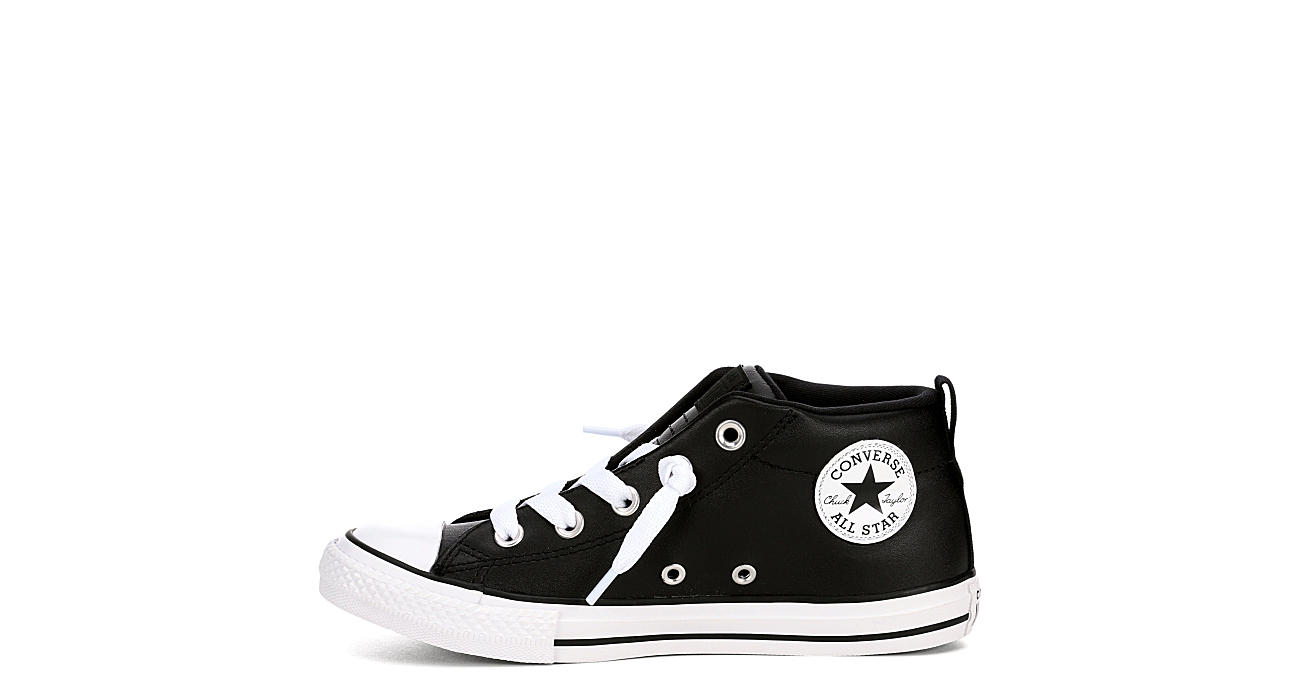 CONVERSE Boys Chuck Taylor All Star Street Mid Leather - BLACK