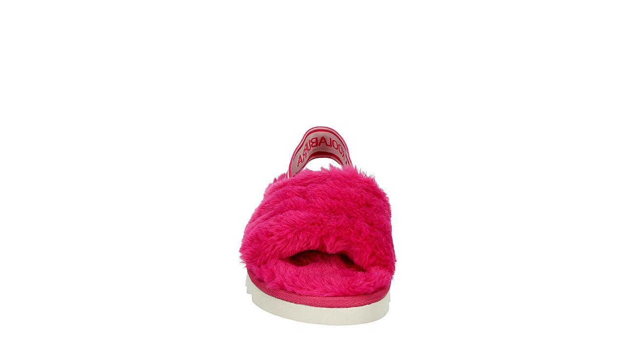 KOOLABURRA by UGG Girls Fuzzn Slide Sandal - BRIGHT PINK