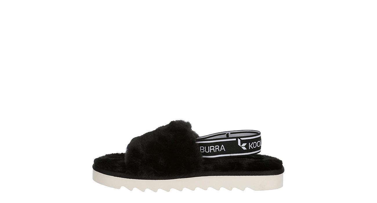 KOOLABURRA by UGG Girls Fuzzn Slide Sandal - BLACK