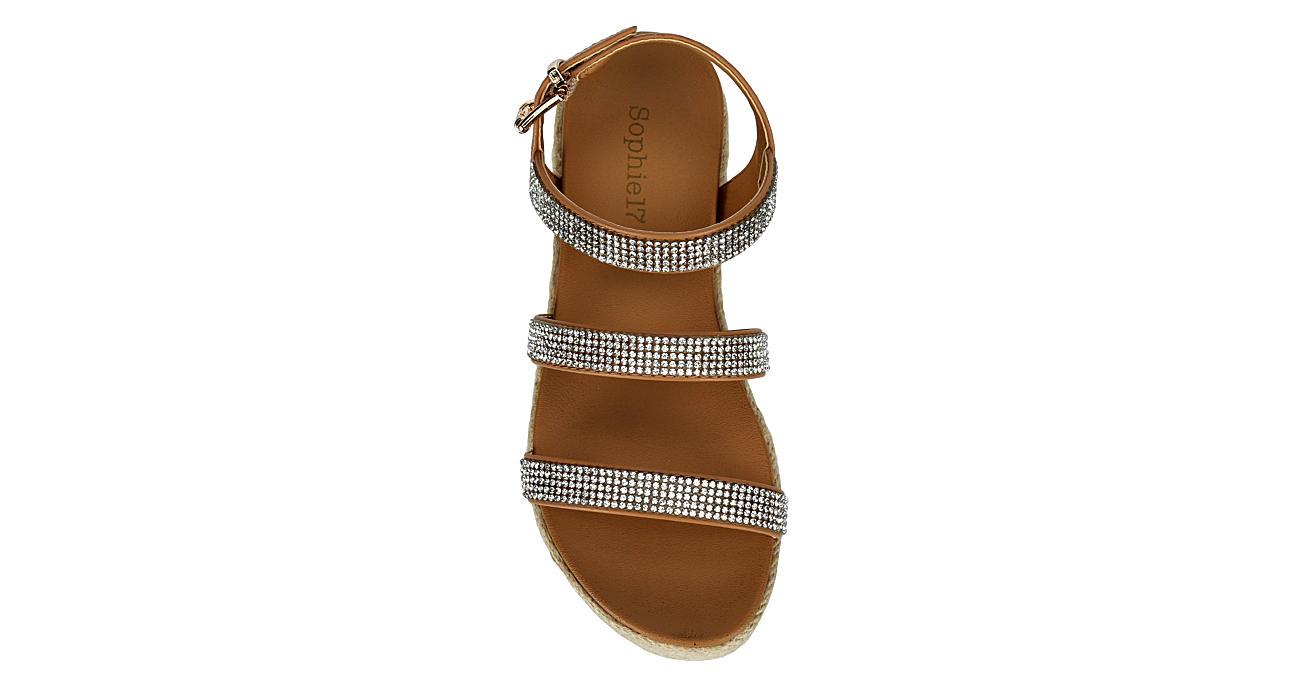 SOPHIE17 Girls Zirconia Platform Sandal - COGNAC