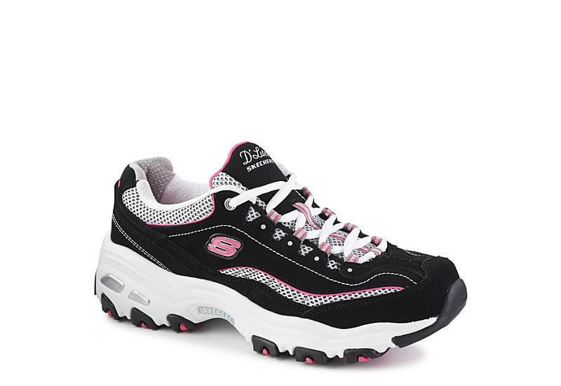 07e8797f5966 Black   Pink Skechers D Lites Women s Sneakers