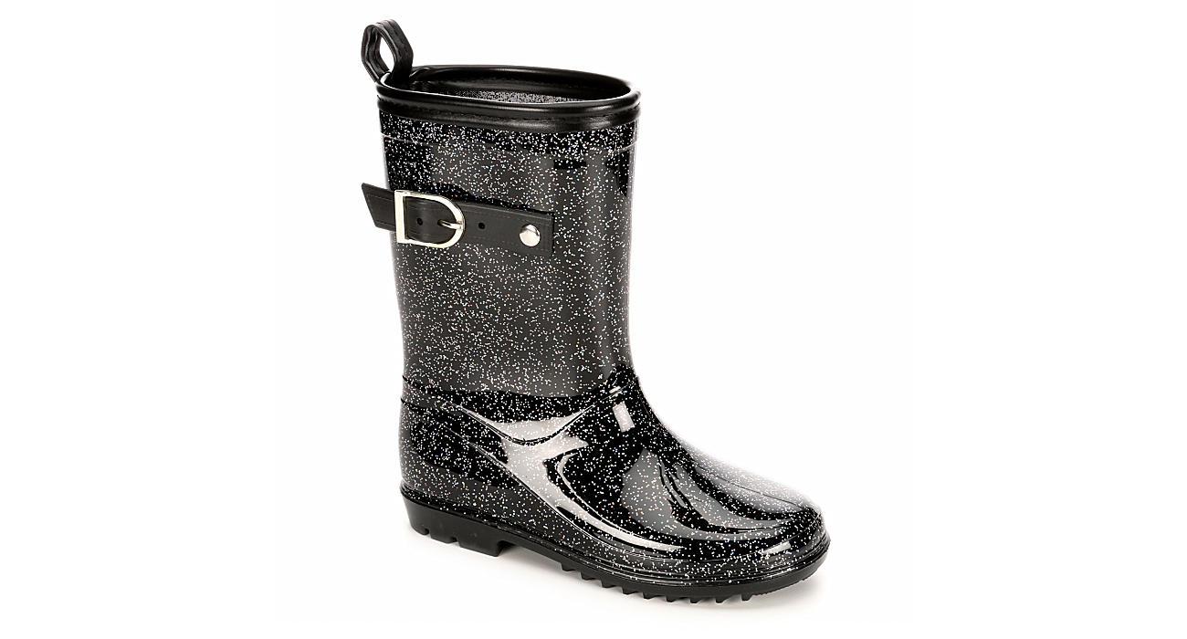 CAPELLI Girls Glitter Rain Boot - BLACK