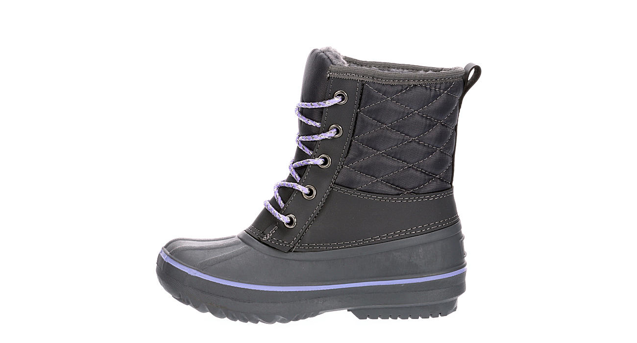 HIGHLAND CREEK Girls Puddles Duck Boot - DARK GREY