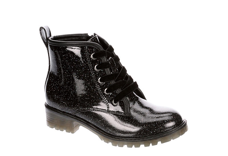 MADDEN GIRL Girls Mbuddie Combat Boot - BLACK