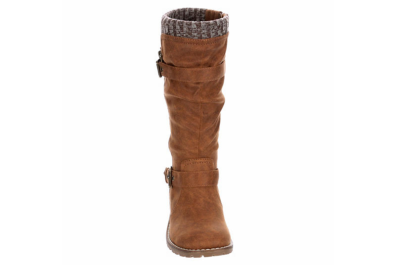 SOPHIE17 Girls Chelss Tall Boot - BROWN