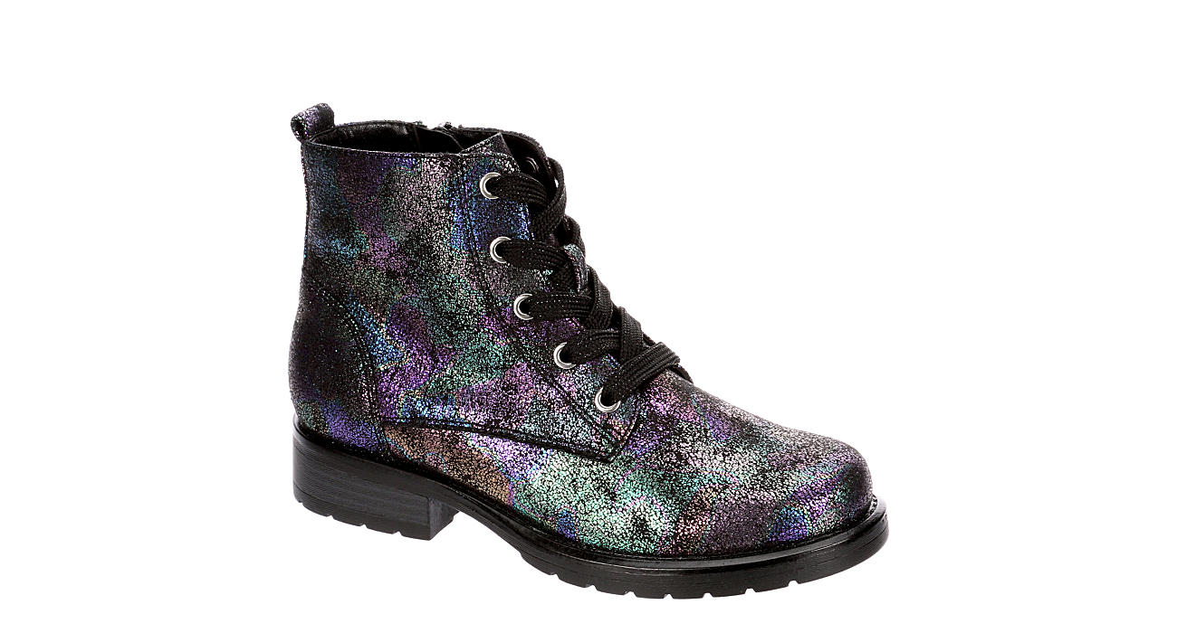 CUPCAKE COUTURE Girls Cloudy Combat Boot - BLACK