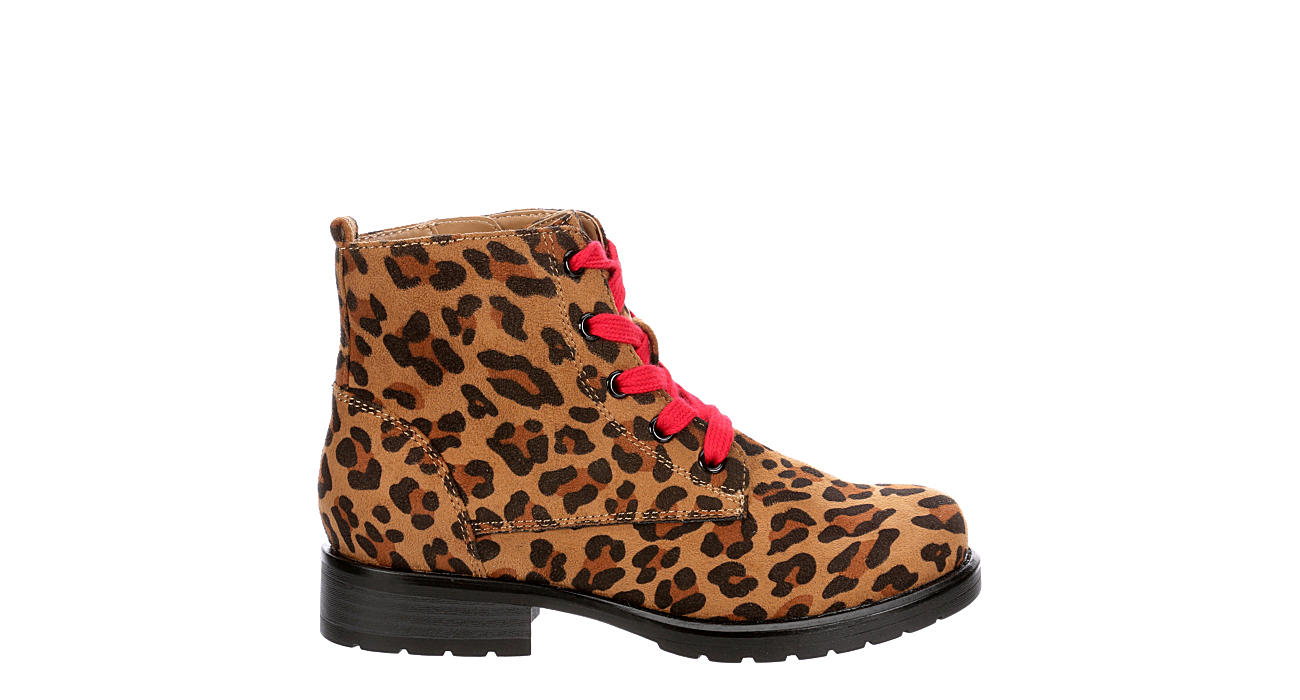 SOPHIE17 Girls Leopardess Combat Boot - LEOPARD