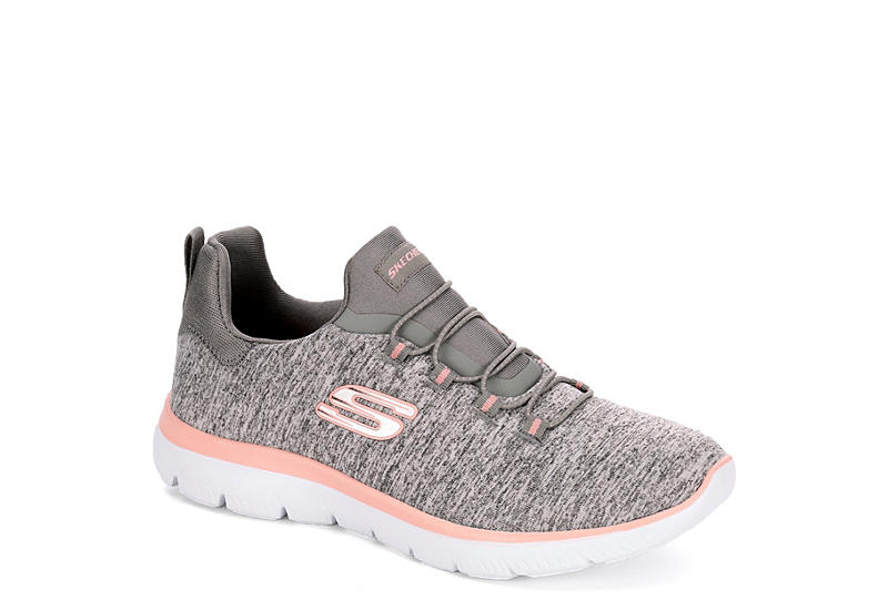 254f4166cfae Grey Skechers Womens Summits