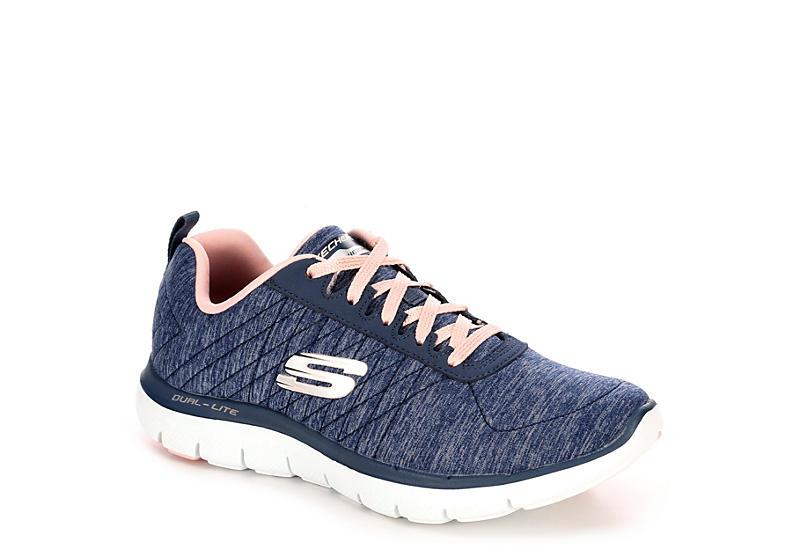 e07d97fd484c Navy Skechers Flex Appeal 2.0 Women s Sneakers
