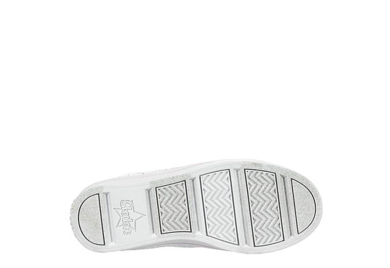 SKECHERS Girls Twi-lites Light Up Sneaker - WHITE