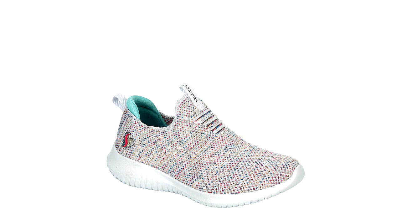 SKECHERS Girls Ultra Flex Slip On Sneaker - MULTICOLOR