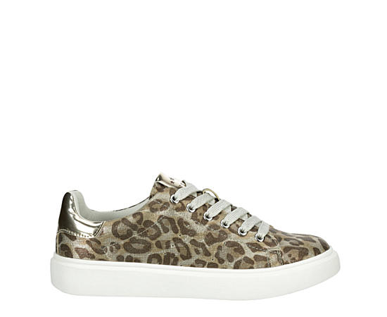 Girls Leopard Queen Platform Sneaker