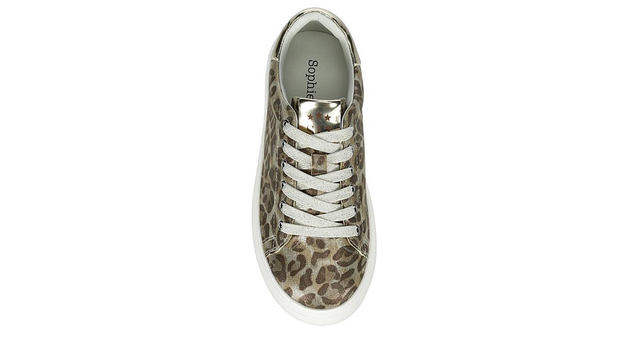 SOPHIE17 Girls Leopard Queen Platform Sneaker - WHITE
