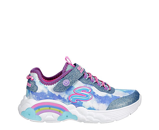 Girls Rainbow Racer Light Up Sneaker