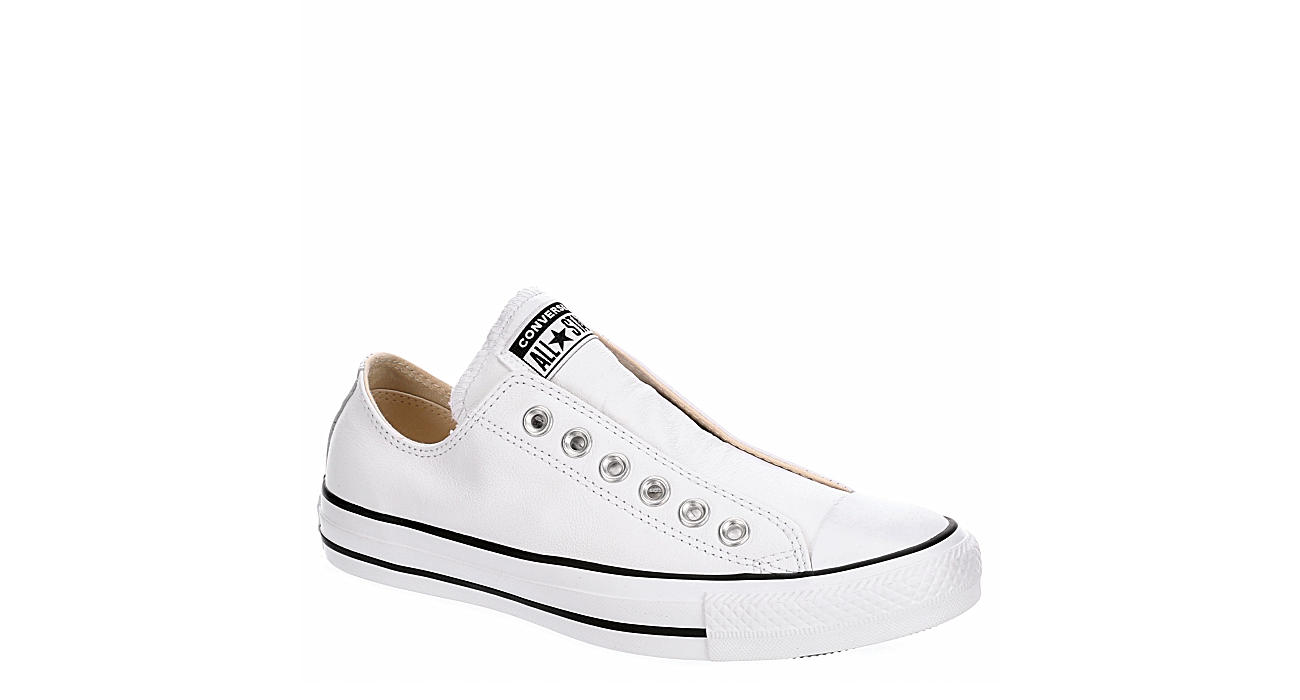 CONVERSE Womens Chuck Taylor All Star Slip Basic Leather - WHITE