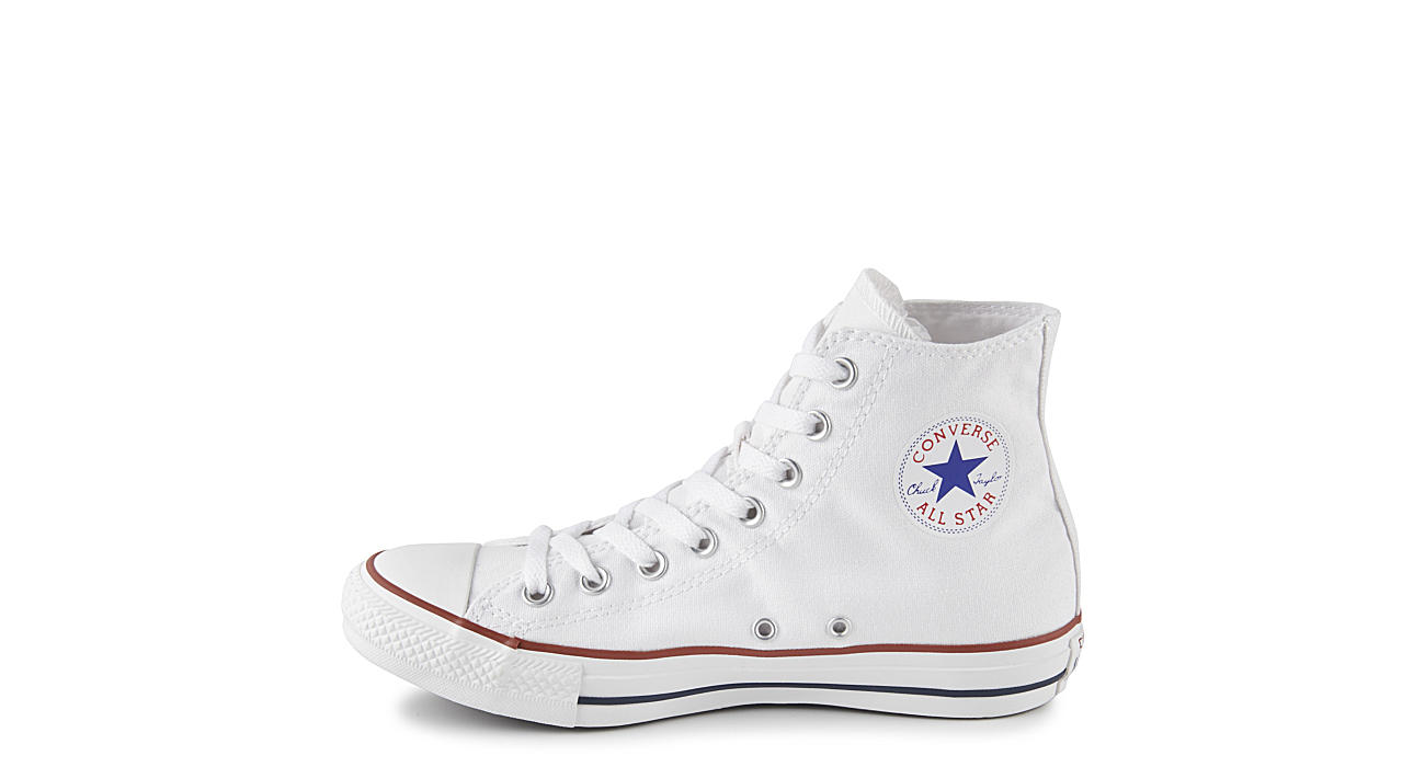 White converse unisex chuck taylor all star hi athletic rack converse unisex chuck taylor all star hi geenschuldenfo Images