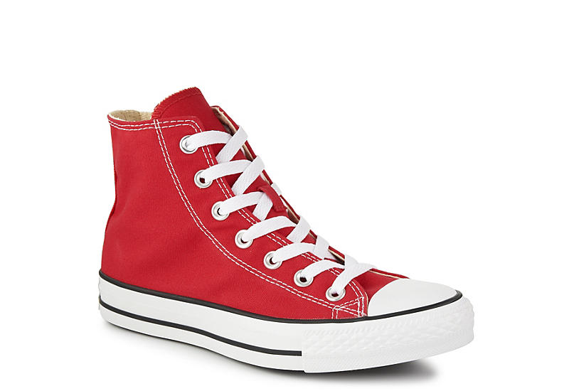 RED CONVERSE Unisex Chuck Taylor All Star High Top Sneaker