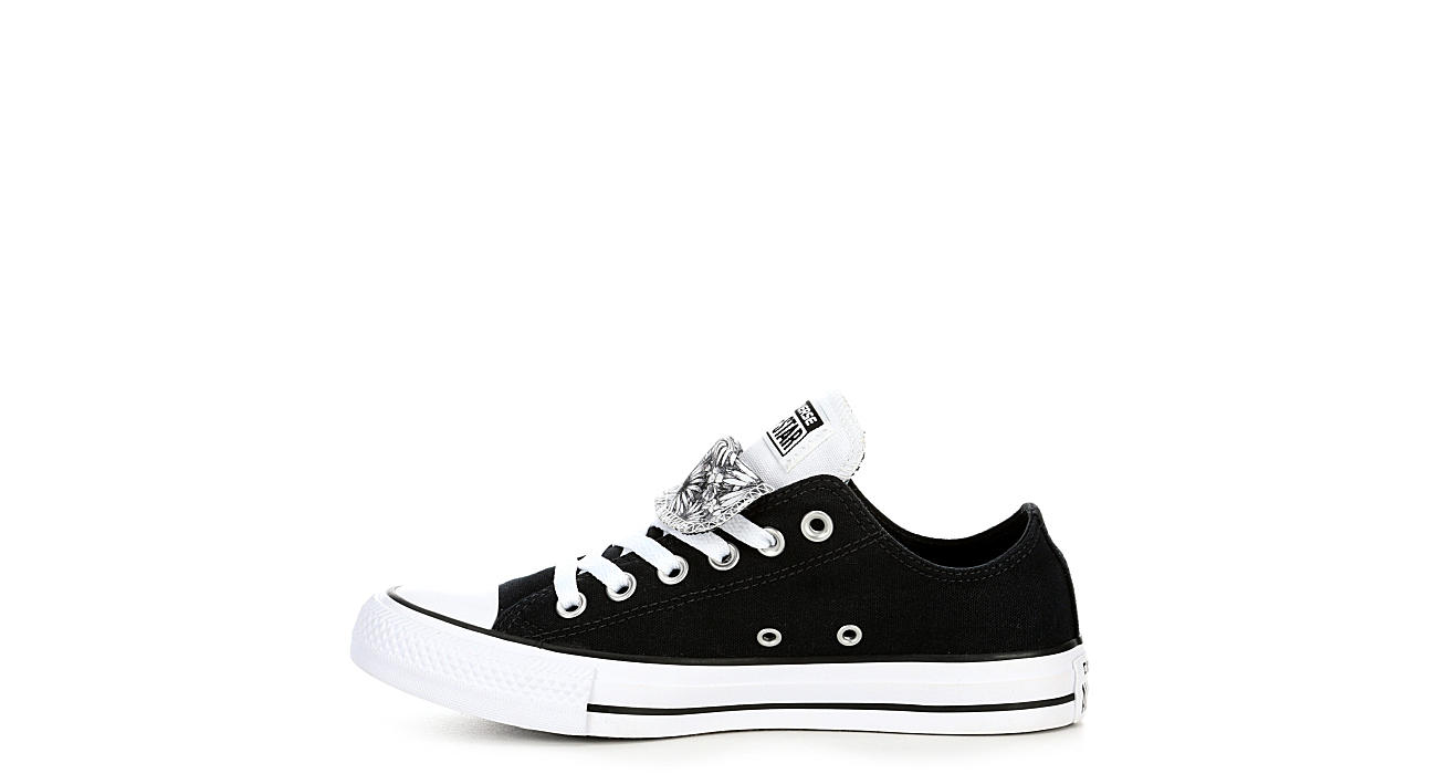 c206c88f0a78 Converse Womens Double Tongue Ox - Black  Brilliant Chuck Taylor All Star  Canvas Shoes Converse Print Women s Double Tongue Sneaker Buff Animal ...