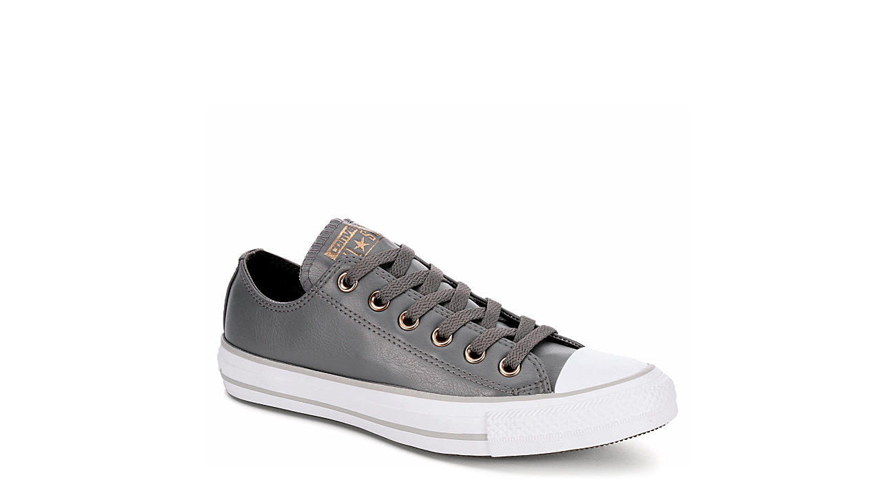 7ce82361a917 Grey Converse Womens All Star Ox Leather
