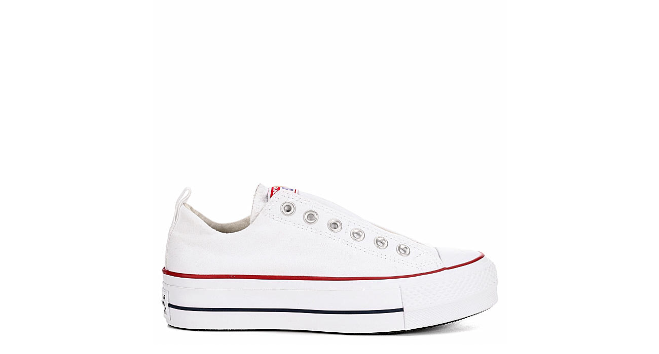 CONVERSE Womens Converse Chuck Taylor All Star Lift Slip Ox - WHITE