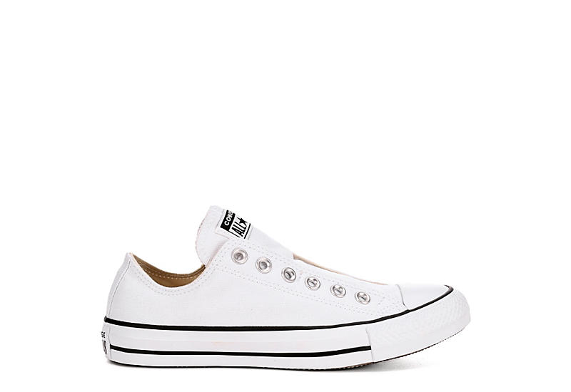 WHITE CONVERSE Womens Converse Chuck Taylor All Star Slip Nu