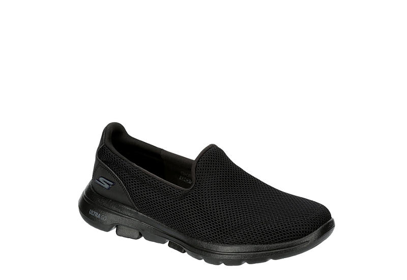 BLACK SKECHERS Womens Go Walk 5 Slip On