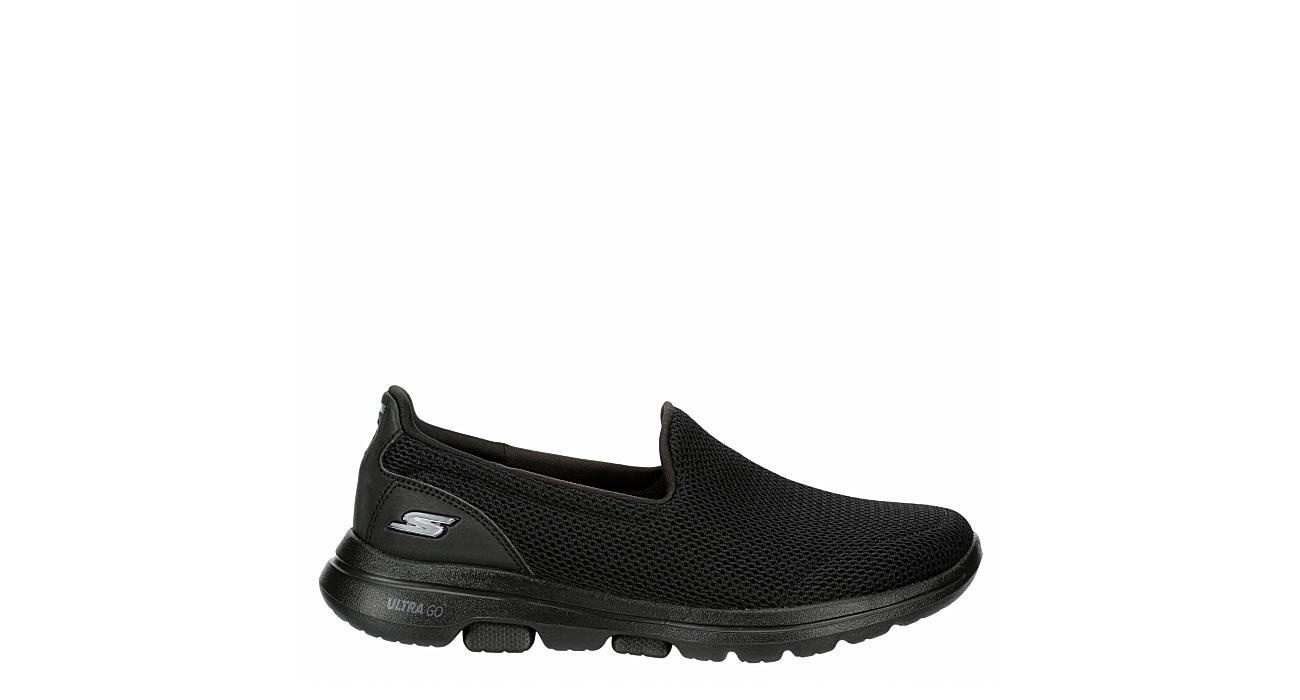 SKECHERS Womens Go Walk 5 Slip On Sneaker - BLACK
