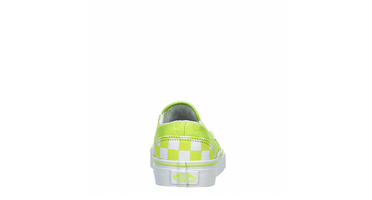 VANS Womens Asher Slip On Sneaker - BRIGHT GREEN