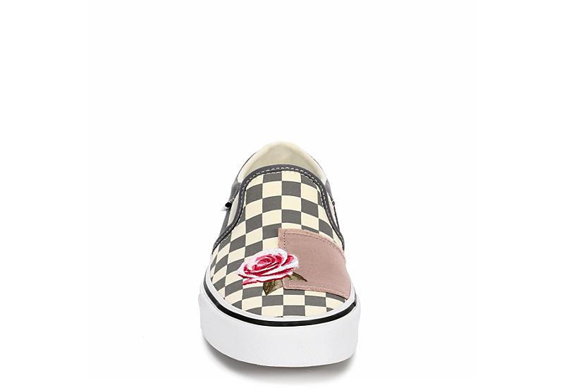VANS Womens Asher Slip On Sneaker - GREY