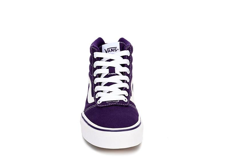 VANS Womens Ward High Top Sneaker - PURPLE