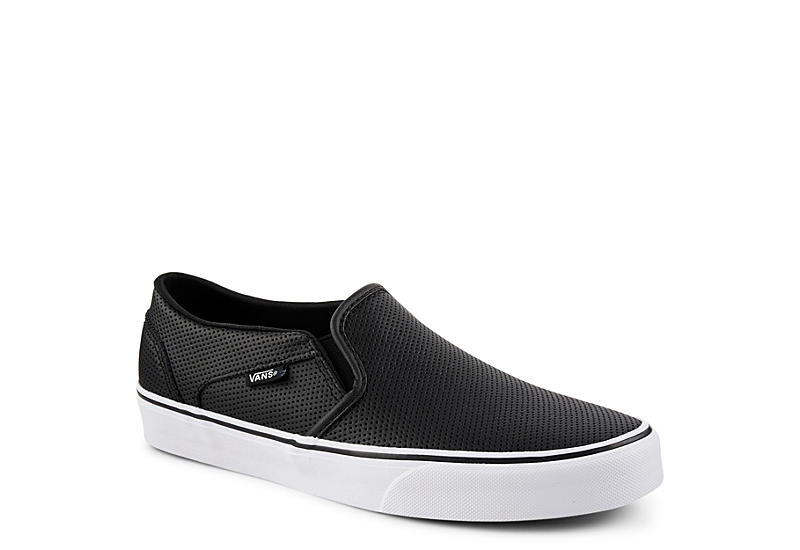 e60393cddf7e80 All Black Vans Asher Women s Slip-On Shoes