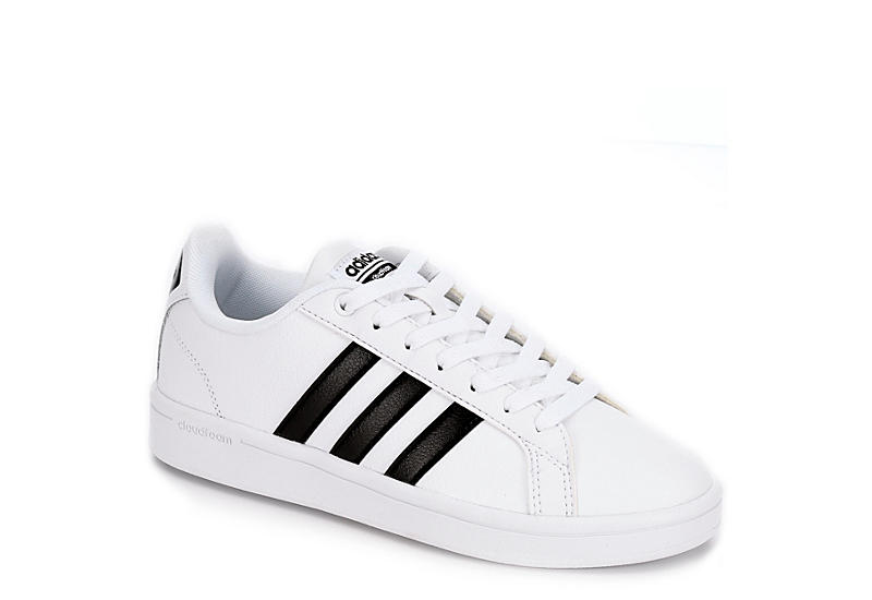 White Adidas Cloudfoam Advantage Stripes Women s Sneakers  05035811f