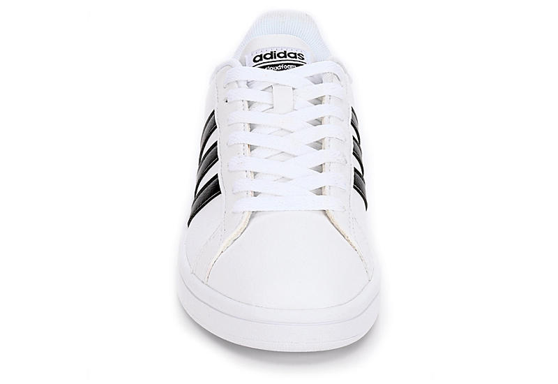 White Adidas Cloudfoam Advantage Stripes Women s Sneakers  4abe62938