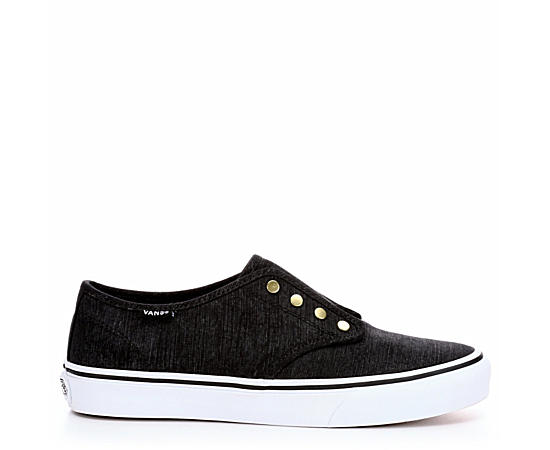 Loafers & Slip-Ons Men Vans Asher Denim Slip-On Sneaker - Mens Black New Exclusive