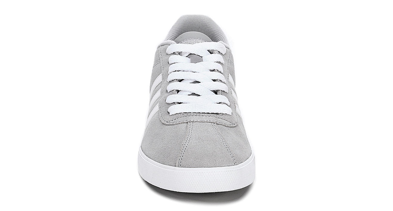 f80fcc259875d2 Grey adidas Courtset Women s Suede Sneakers