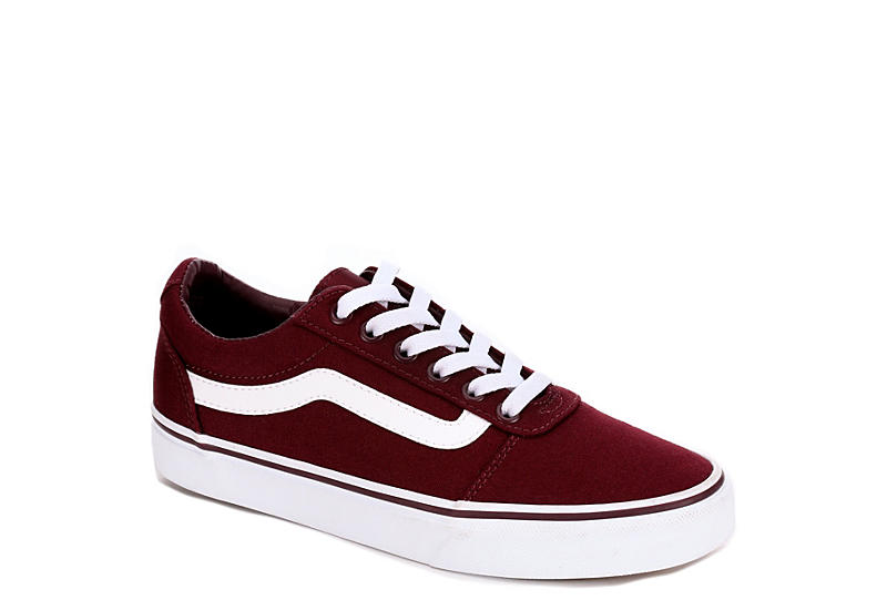 a5df95f7315d59 Burgundy Vans Ward Low Top Women s Sneakers