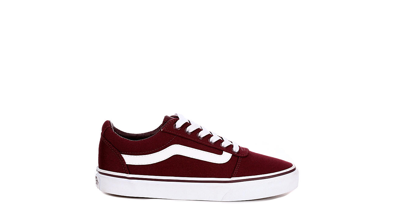 2f588c0b26fe6b Burgundy Vans Ward Low Top Women s Sneakers