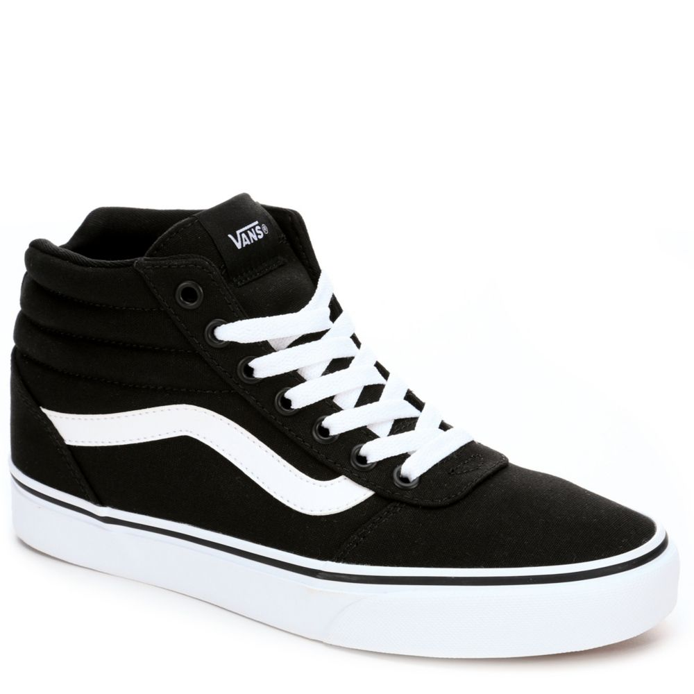 black on black vans womens