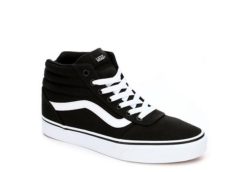 vans white and black high tops