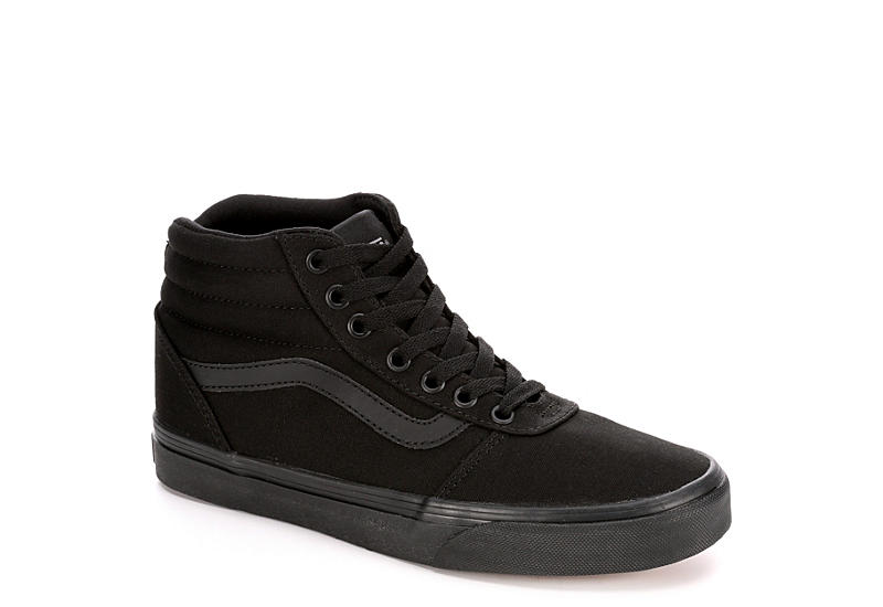 All Black Vans Ward Women s High Top Sneakers  136b1c36d