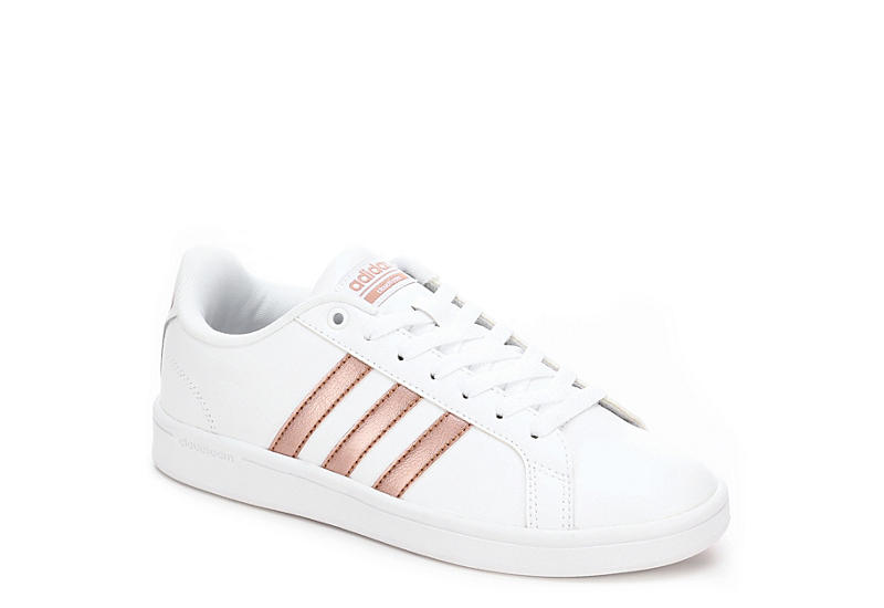 WHITE ADIDAS Womens Cloudfoam Advantage Stripes