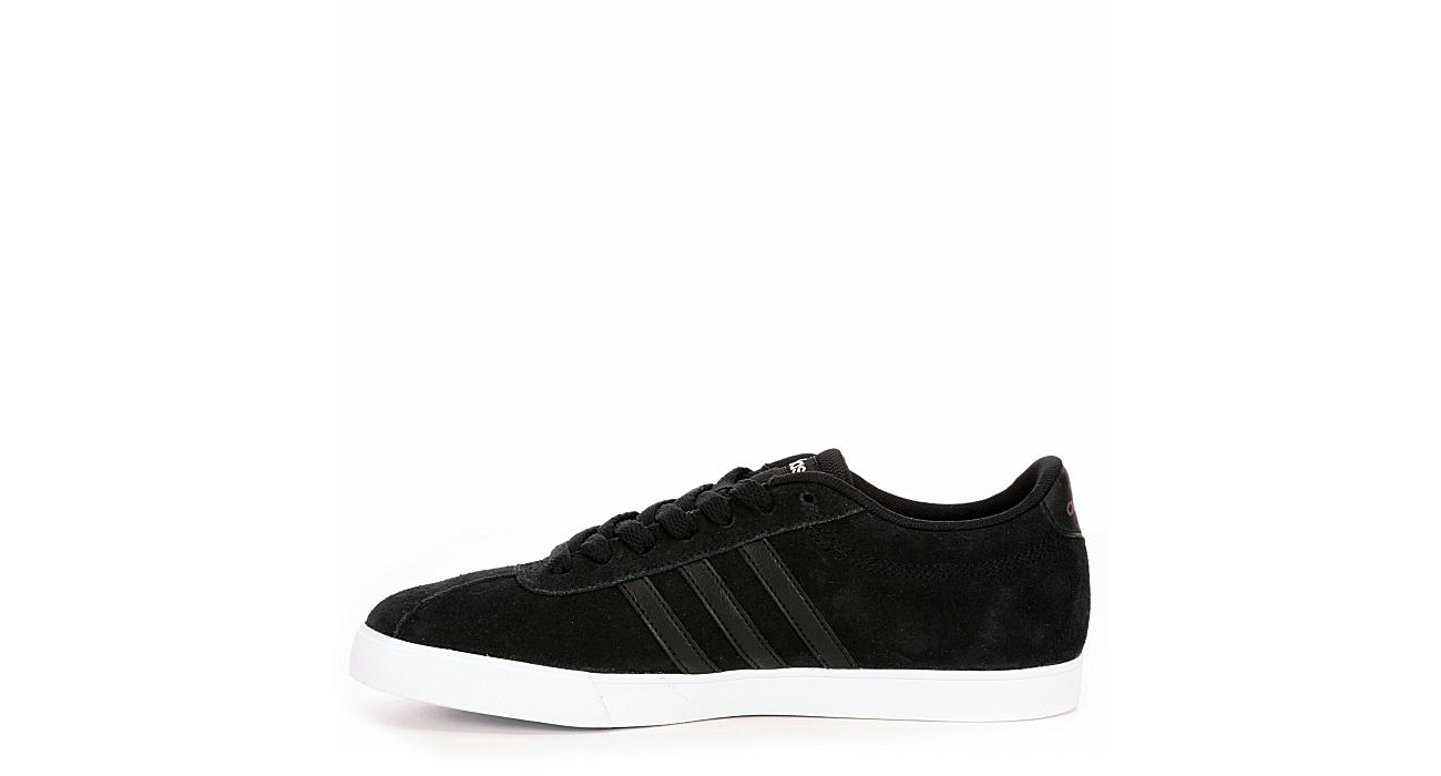 All Black adidas Courtset Womens Suede Sneakers  fcaecd4dd