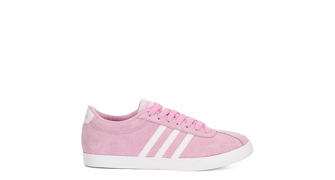 161f262c382cb2 Pink adidas Courtset Women s Suede Sneakers
