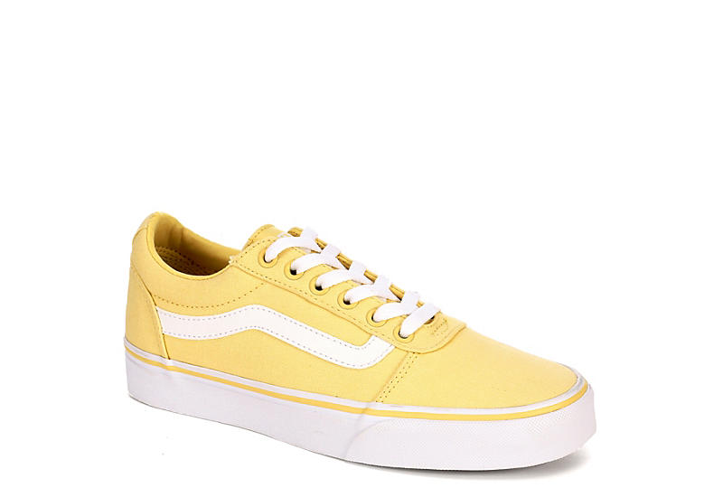 6c812f572fe7f7 Yellow Vans Ward Low Top Women s Sneakers