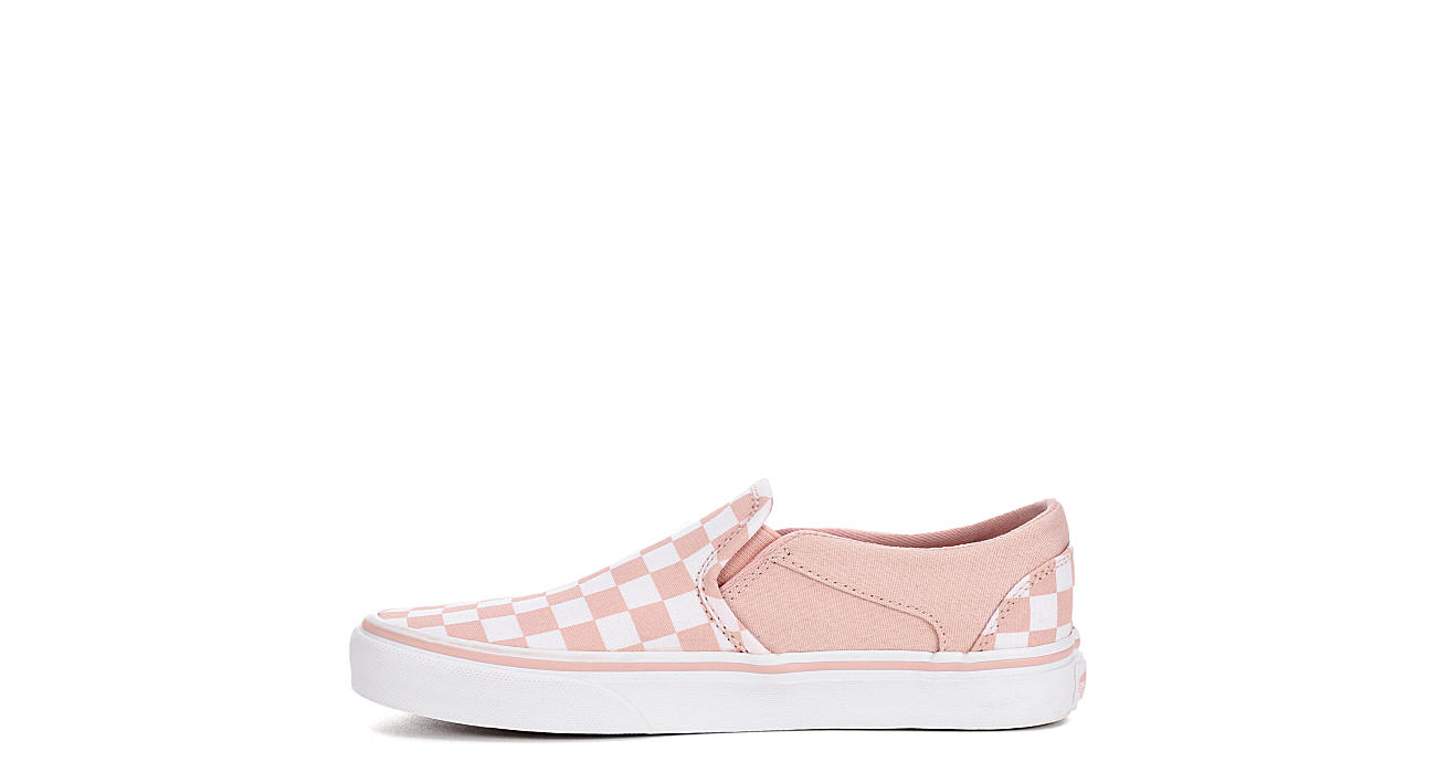 Pink   White Checkerboard Vans Asher Women s Slip-On Shoes  4bf9bb461