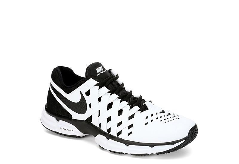 white nike mens dito trappola doppia fusione atletico rack stanza scarpe